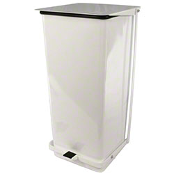 Impact® Step-On Receptacle - 21 Gal., White