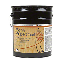 Bona-SSS® SuperCourt® OMU Poly 350/55 Athletic Wood Floor Finish - 5 Gal. Pail, Gloss