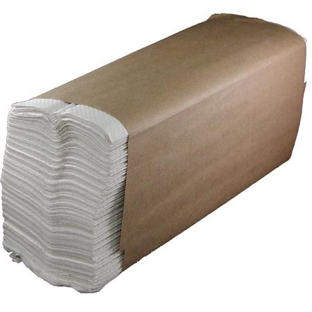 "Enviro-Soft Natural White C-Fold Towel - 10 1/2"" x 13"""