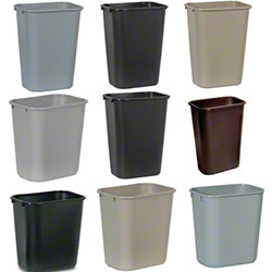Rubbermaid® Deskside Wastebasket - 28 1/8 Qt., Gray