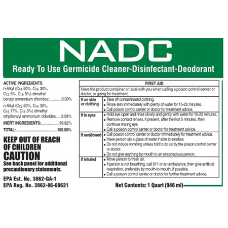 NADC Ready To Use Germicide Cleaner Disinfectant Deodorant