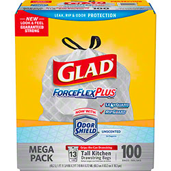 Glad® ForceFlex® 13 Gal. Trash Bag - 100 ct.
