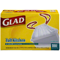 Glad® 13 Gal. Tall Kitchen Drawstring Bag - 100 ct.