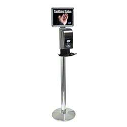 Deb® Silver Finish Stand Only For HandsFREE Dispensers
