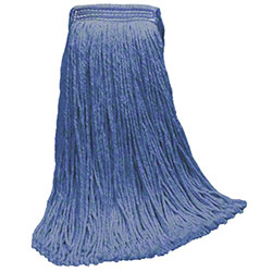 DMSI Color Blend Yarn Cut-End Wet Mop Head-32 oz., Blue