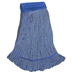 "DMSI Colored Blend Yarn Looped-End Wet Mop -XL, 5"", Blue"