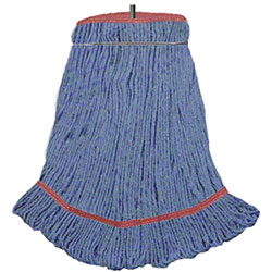DMSI Colored Blend Yarn Looped-End Bolt Wet Mop - LG, Blue