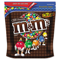 Candy,m&m,plain,42oz Bag
