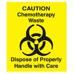 Yellow Chemotherapy Decal 6i Square