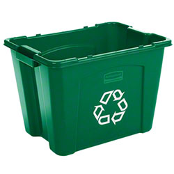 Rubbermaid® Recycling Box - 14 Gal., Green