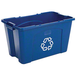 Rubbermaid® 18 Gallon Recycling Box - Blue