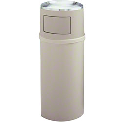 Rubbermaid® Ash/Trash Classic Cont. w/Doors-25 Gal., Beige