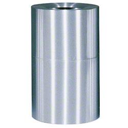 Rubbermaid® Atrium® Open Top - 35 Gal., Satin Aluminum