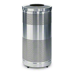 Rubbermaid® Classics Stainless Steel Recycle - 25 Gal., SS