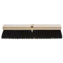 "AGF Synthetic Tampico Medium Sweep Push Broom - 24"""