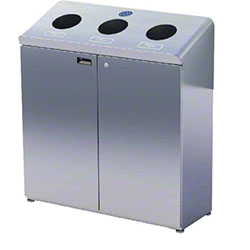 Frost™ Indoor/Outdoor Three Stream Recycling Station