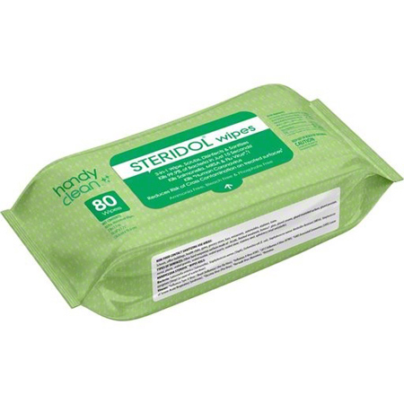 Steridol Hard Surface Disinfectant Wipes - 80 ct. Pack