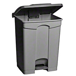 M2 Professional Step-On Garbage Can - 12 Gal., Grey