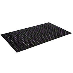 "Mat Tech Safe-Flow Plus™ 648 Classic Mat - 2' 10"" x 4' 7"", Black"