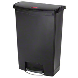 Rubbermaid® Slim Jim® Step-On Resin Front-24 Gal., Black
