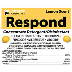 Creative Respond Disinfectant Cleaner - Gal., Lemon