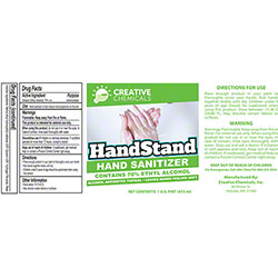 Creative Handstand Hand Sanitizer - Pint