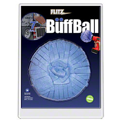 "Flitz® 7"" X-Large Blue Buff Ball - Clamshell Pkg."