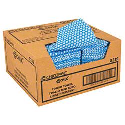 "Chicopee® Chix® Tough Towel - 13 1/4"" x 24"", Blue"