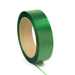 "PAC Strapping Embossed Polyester - 5/8""x4000', 16 x 6, Green"