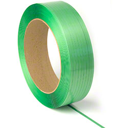 "PAC Strapping Waxed Polyester Cord Strapping - 5/8"" x .035"", Green"