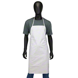 West Chester Posi-Wear® BA™ White Apron - One Size Fits Most
