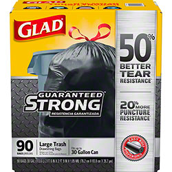 Glad® Large Extra Strong Drawstring 30 Gal. Trash Bags - 90 ct. Box