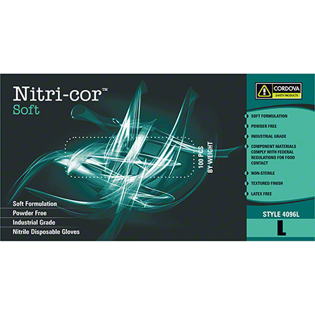 Cordova™ Nitri-Cor Soft™ Blue Nitrile Glove - Medium