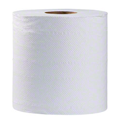 Simple Earth Centerpull Towel - 500', White
