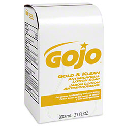GOJO® Gold & Klean Antimicrobial Lotion Soap - 800 mL BIB