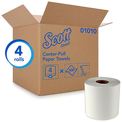 "Scott® Essential Center Pull Towel - 8"" x 15"", White"