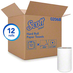 "Scott® Essential Hard Roll Towel - 8"" x 400', White"