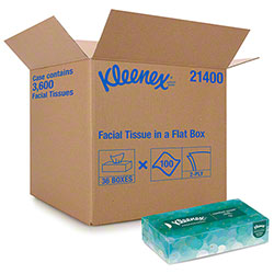 Kleenex® White Facial Tissue - 100 ct. Flat Box