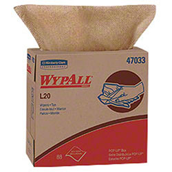"Kimberly-Clark® WYPALL® L20 Wiper-9.1"" x 16.8"", Natural"