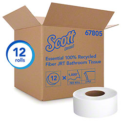 "Scott® Essential 100% Recycled Jumbo Bathroom Tissue - 3.55"" x 1000'"
