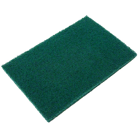 """Green 6 X 9"""" Med Duty Scouring Utility Pad 10/PK"""