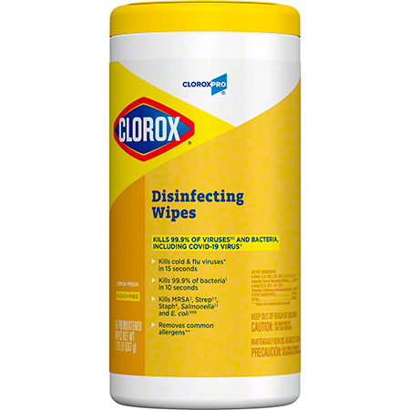 Clorox 75Shts Lemon Fresh  Disinfectant Wipes 6/CS