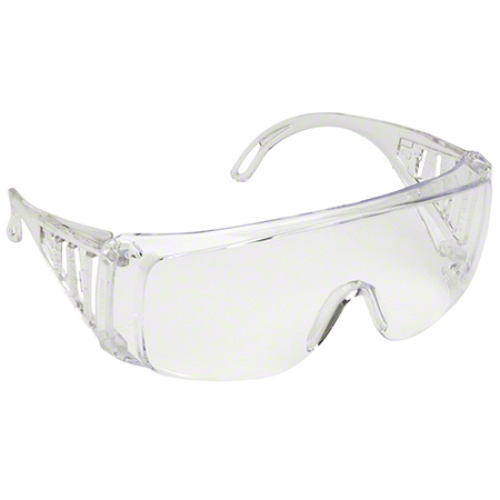 Glasses-Safety Slammer, Uncoated Frame/Clear Lens