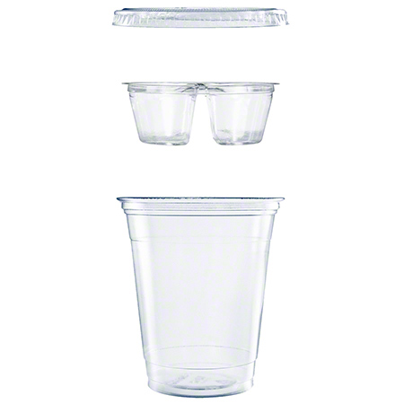 12oz Clear PP Grab&Go Combo Cup