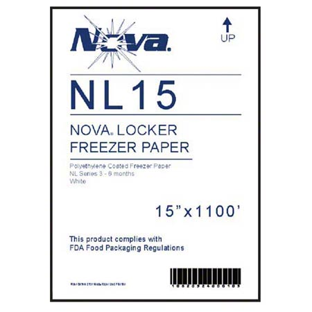 18 X 1100' White Freezer Paper PE Coated 3-6 Month Stoarage