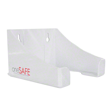 White Onesafe Acrylic Single Glove Dispenser