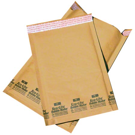 "Mailer-Bubble #0 6.5 X 10"" Kraft Mailer Self-Seal 250/CS"