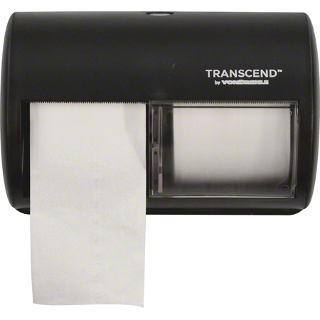 "Black 7"" PRT Twin SmartCore  Bath Tissue Dispenser 2/CS"