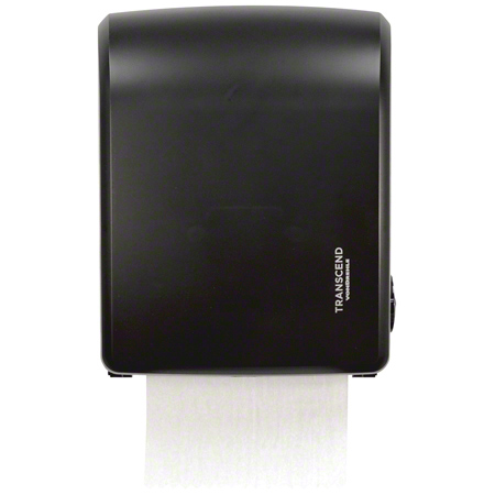 "Black  8"" HRT PRT Mechanical  Pull Down Towel Dispenser"
