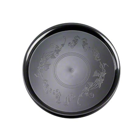 "16"" Round Black Deli Mate Tray 25/CS"
